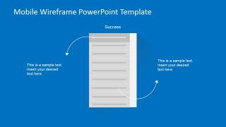 PowerPoint Wireframe for Mobile List of Details