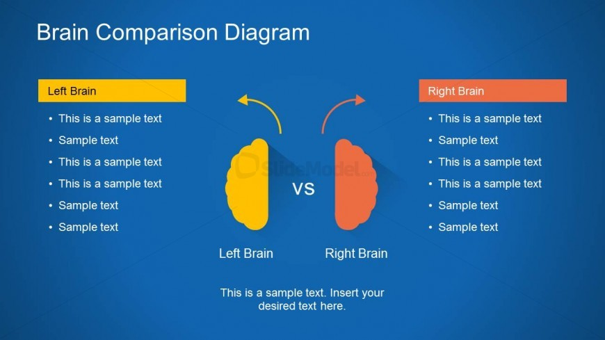 Right Brain & Left Brain PowerPoint Slide Design