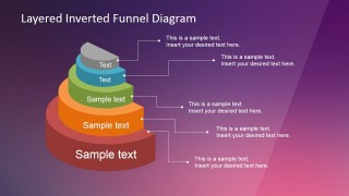 Multicolor Editable 3D Funnel Chart