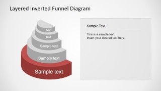 Editable PPT with 5 level Funnel Diagram