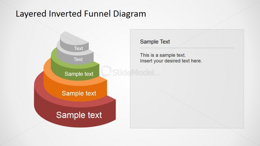 PowerPoint Presentation with 5 level Funnel Diagram