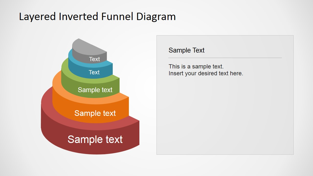 Layered inverted funnel diagram slidemodel 3d funnel diagram template for effective business presentation pooptronica Images