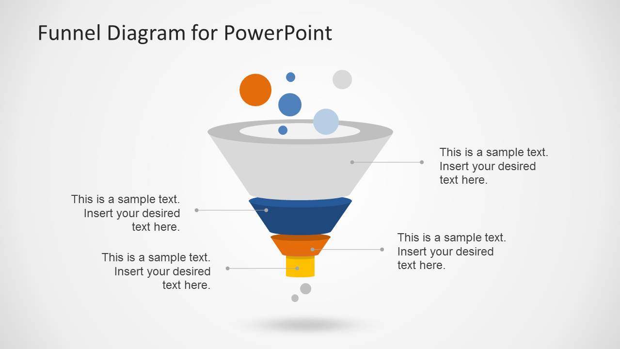 Funnel Diagram for PowerPoint with 4 Levels
