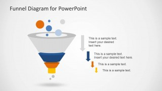 Funnel Analysis PowerPoint Slide Design with Arrows