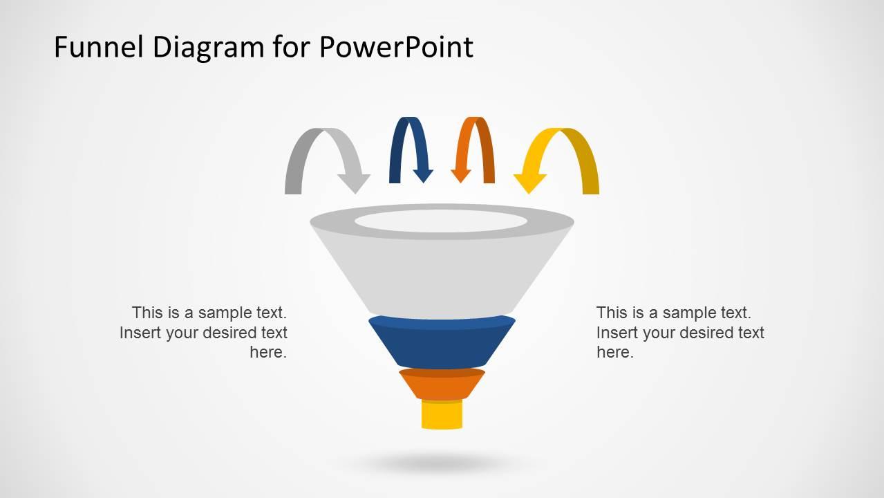 Diagram funnel diagram powerpoint template : Creative Funnel Diagram Template for PowerPoint - SlideModel