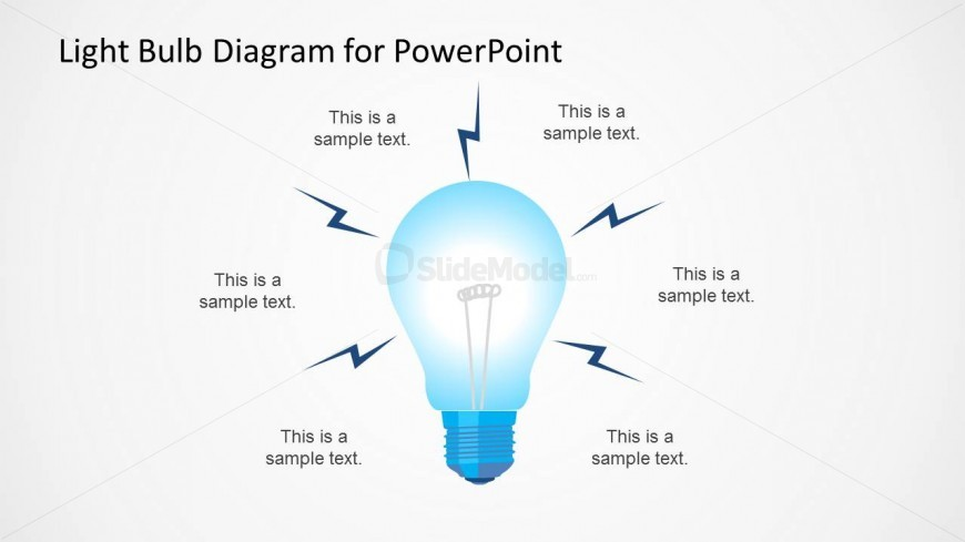 light bulb slide design with thunderbolt shapes slidemodel rh slidemodel com PowerPoint Presentation PowerPoint Graphs