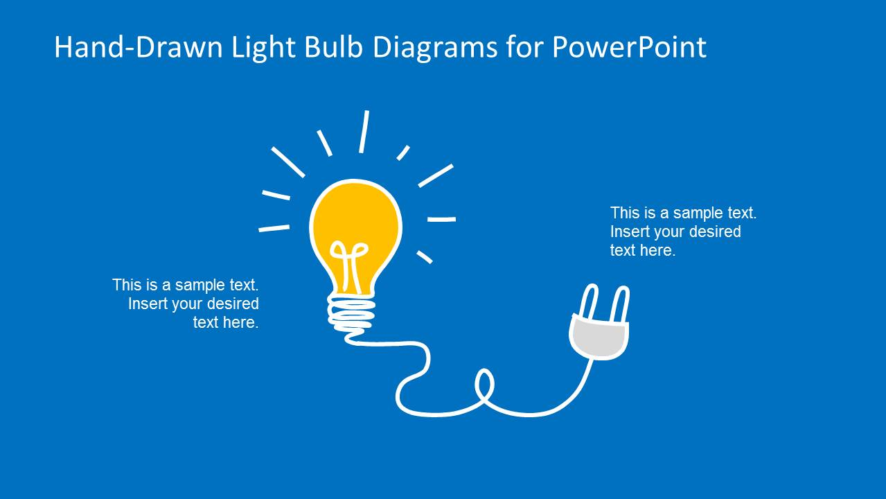 Hand-drawn Light Bulb Template For Powerpoint
