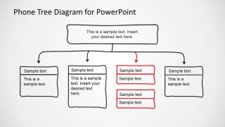 Phone Tree Diagram PowerPoint Template