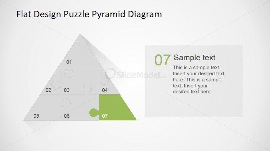 PowerPoint Diagram of Seventh Jigsaw Piece of Pyramid Puzzle Diagram