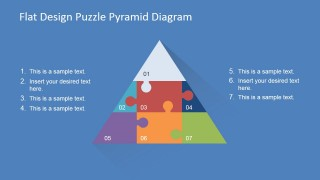 Jigsaw Puzzle PowerPoint Diagram of 7 Steps