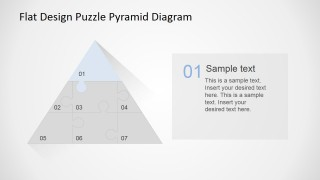 PowerPoint Diagram Top Jigsaw Piece Description