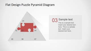PowerPoint Flat Puzzle Pyramid Diagram