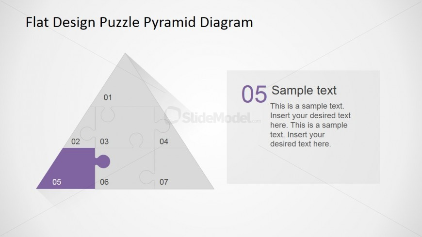 PowerPoint Flat Pyramid Puzzle Diagram