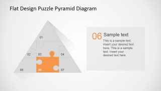 PowerPoint Diagram Puzzle Jigsaw Piece 6 Highlighted