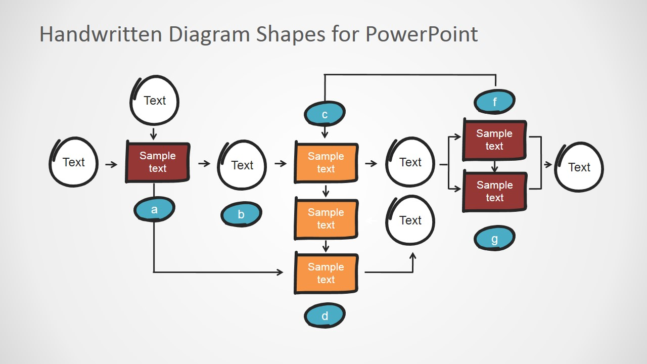 Handwritten Tree Diagram Elements and Connectors for PowerPoint