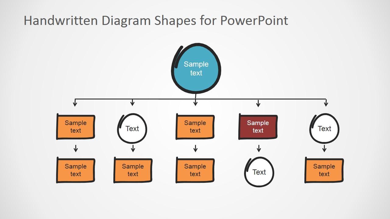 PowerPoint Flat Bold Hierarchy Handwritten Elements