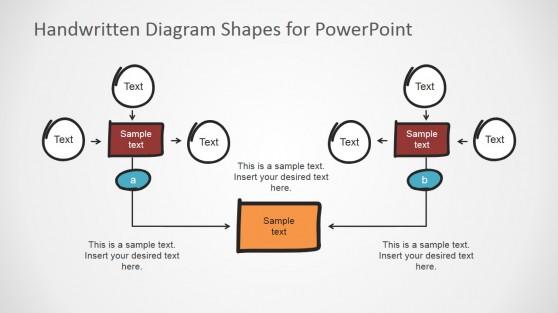Handwritten Workflow PowerPoint Diagram