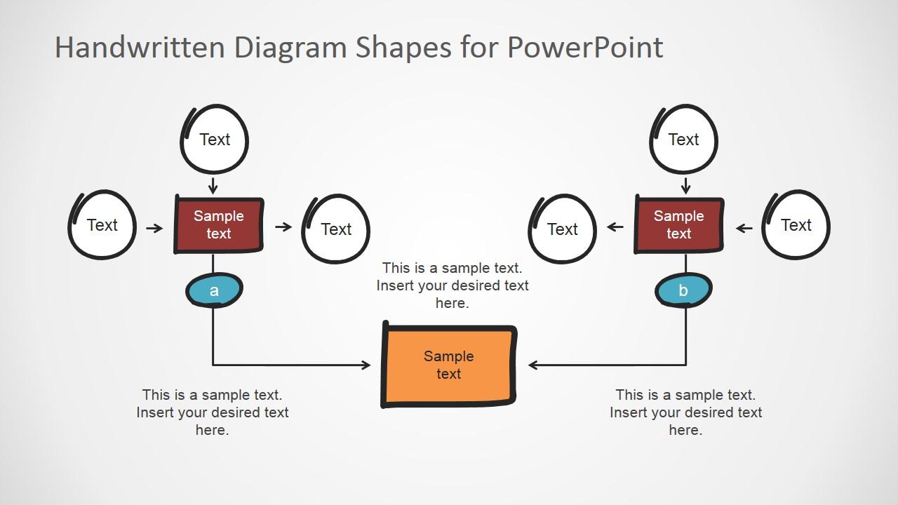 PowerPoint Handwritten Workflow Elements and Connectors