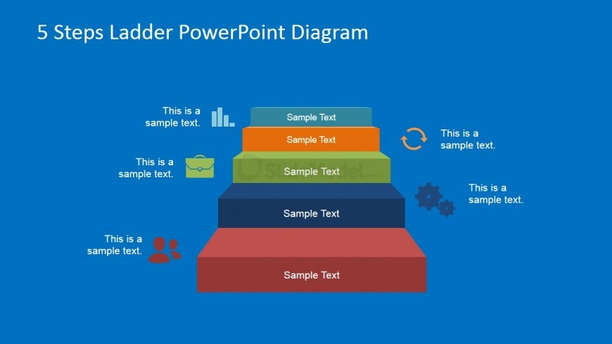 5 Step Business Process PowerPoint Presentation - SlideModel