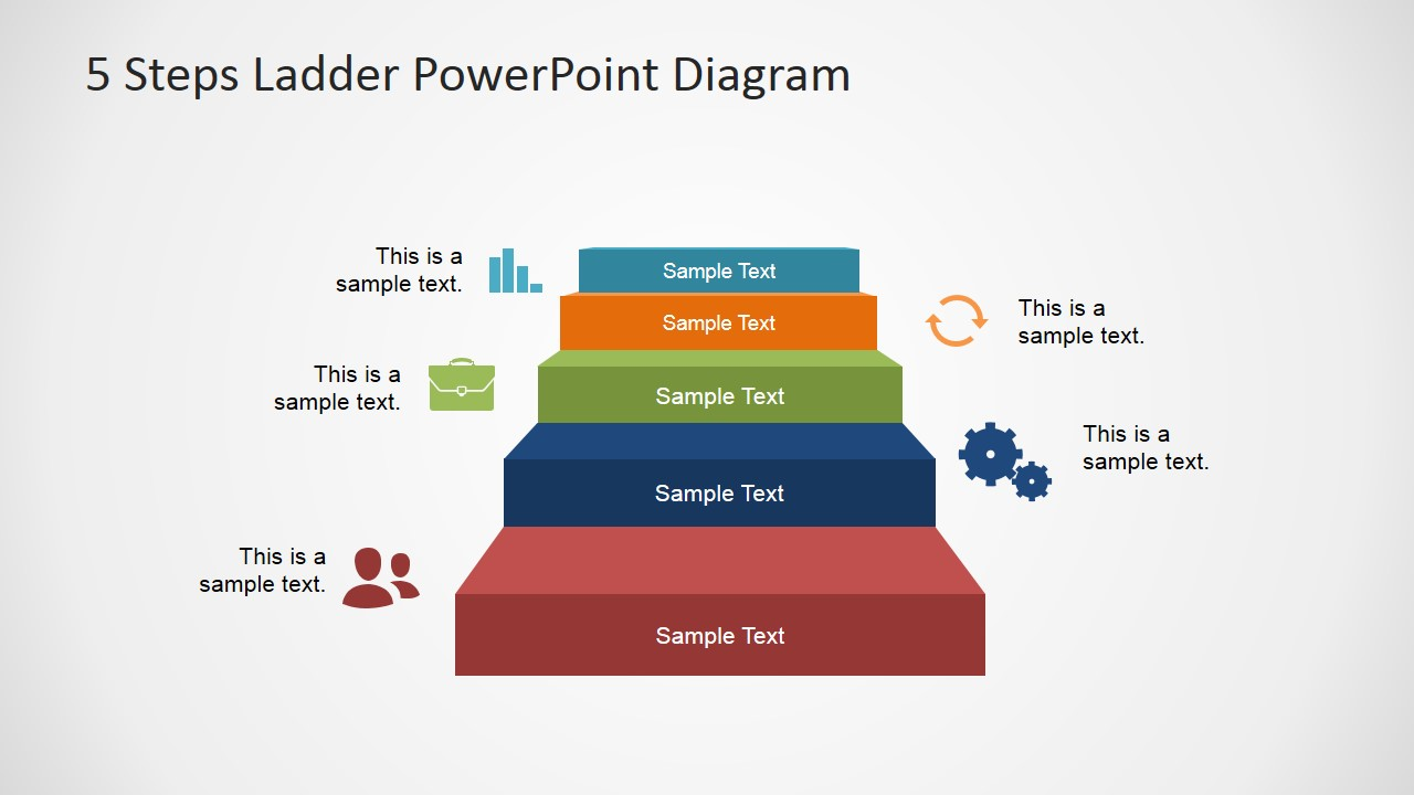 Powerpoint Template For 5 Stages Business Development