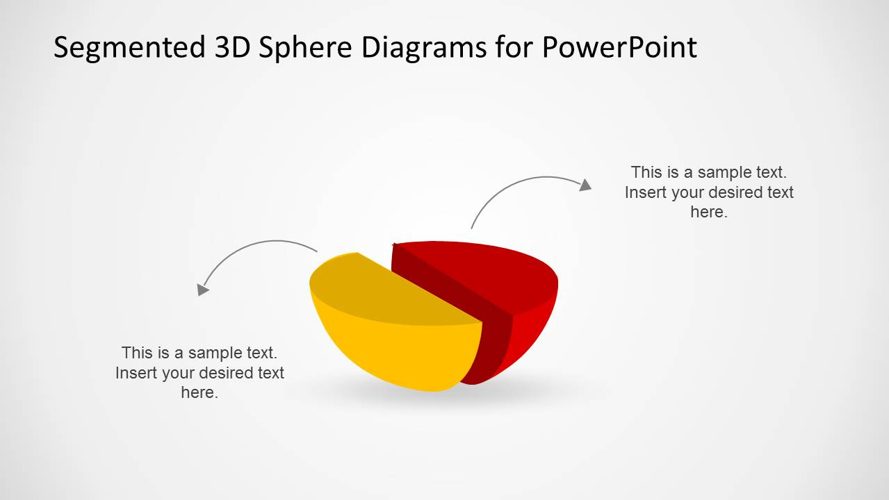 3D Hemisphere Diagram for PowerPoint with Arrows