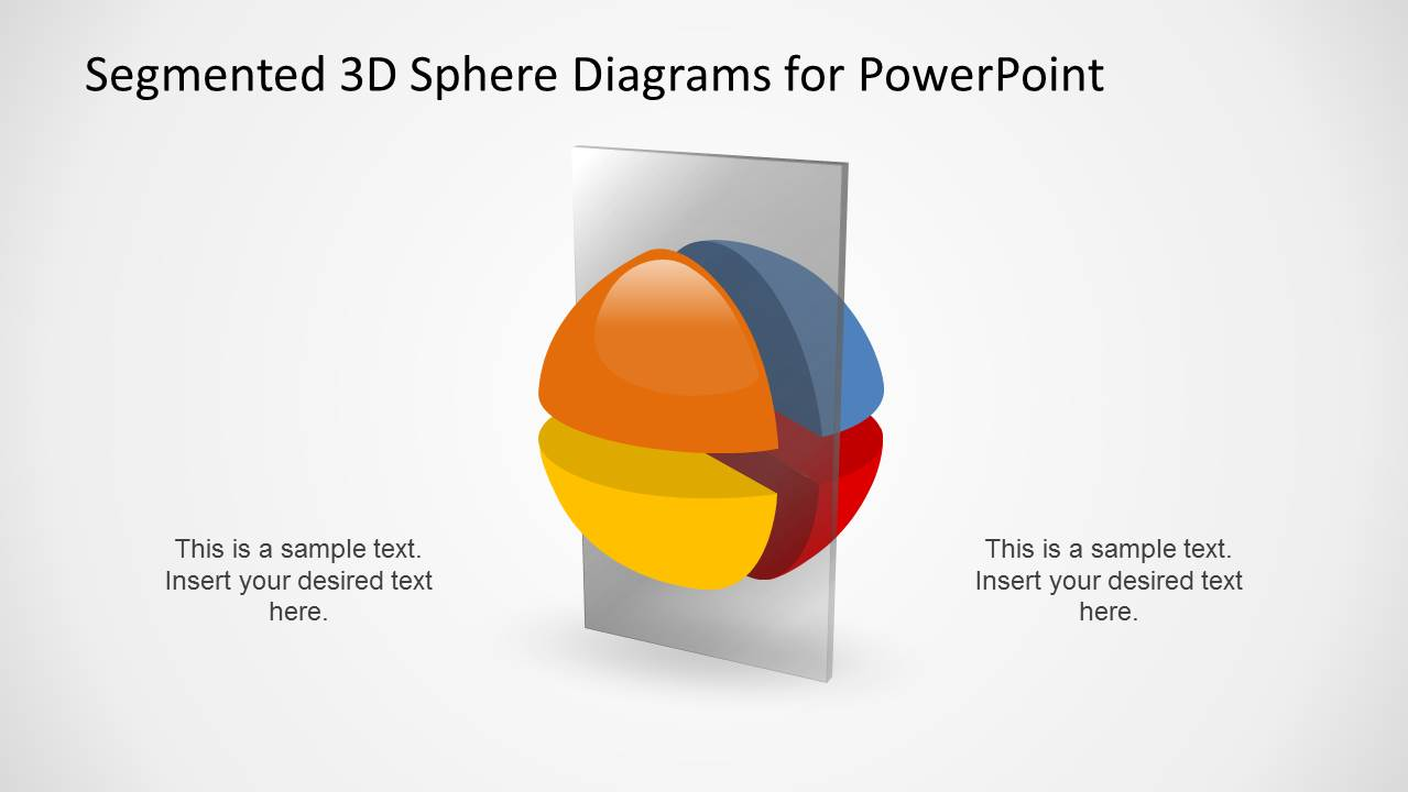 3D Segmented Sphere Diagram Slide with Vertical Layer