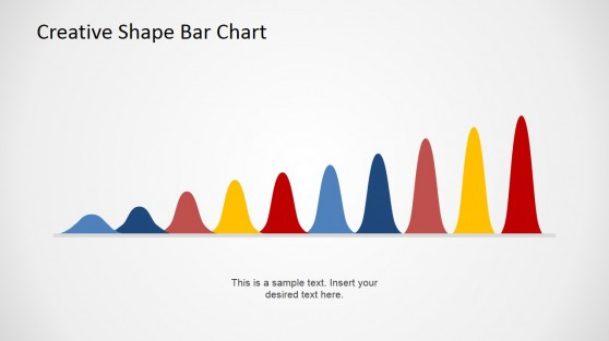 Creative Curved Bars PowerPoint Chart for Business