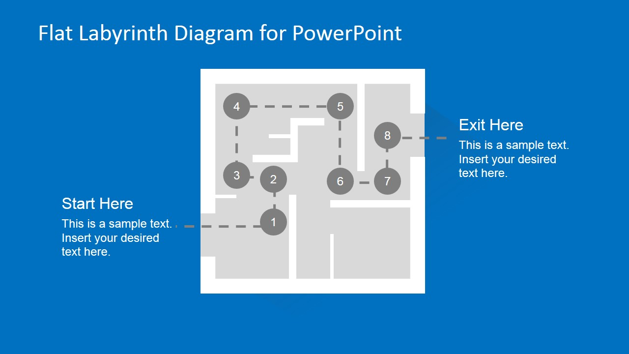 Labyrinth Problem Solving Slide Design for PowerPoint