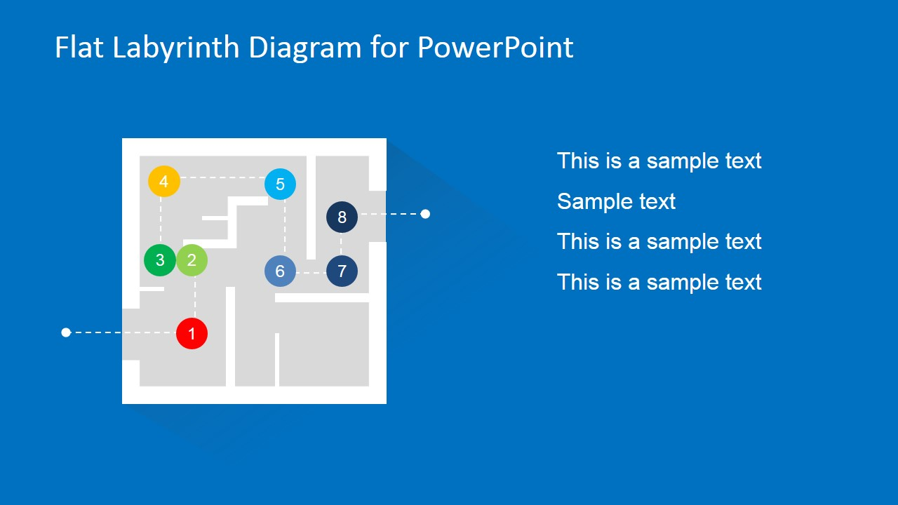 Flat Labyrinth Problem Solving PowerPoint Slide