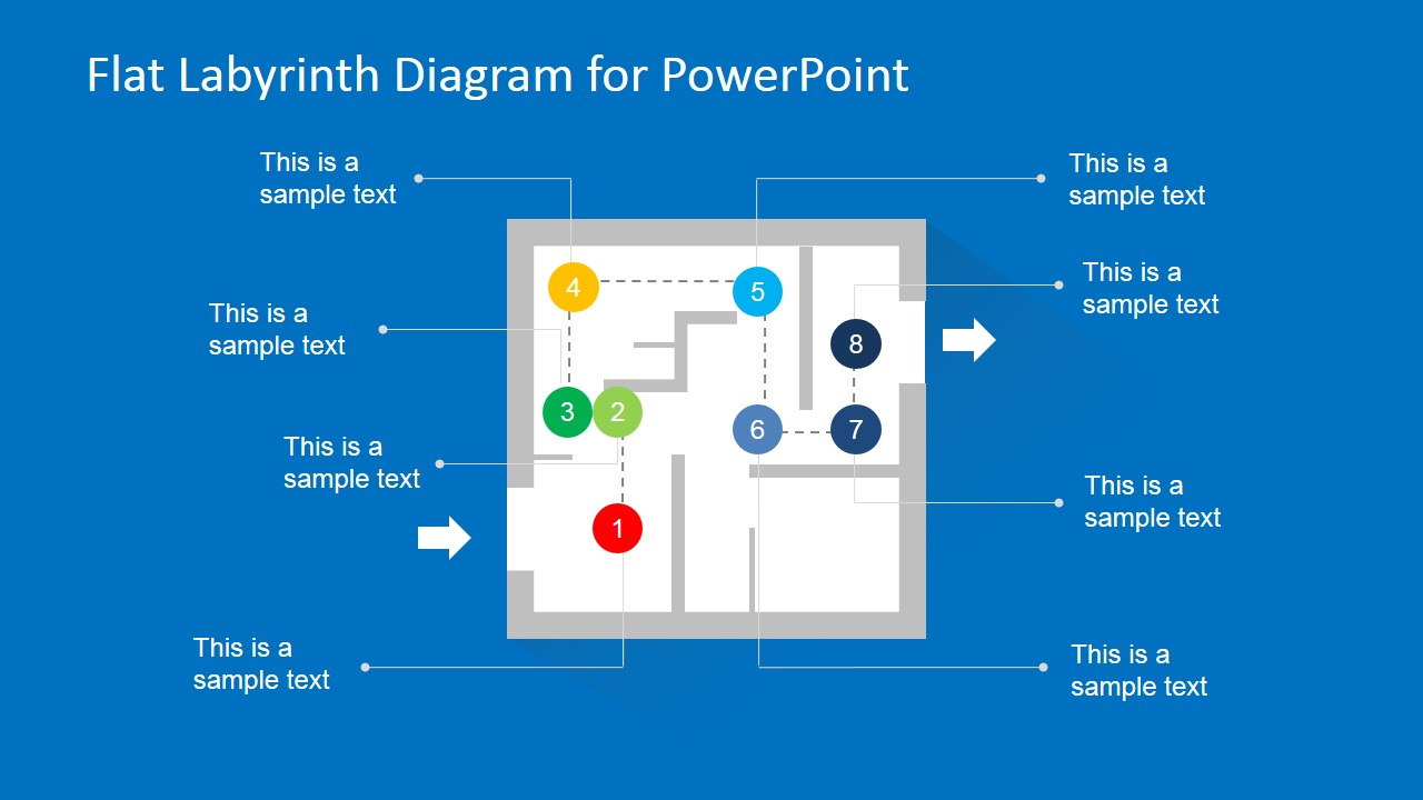 Labyrinth Problem & Solution PowerPoint Slide Design