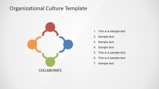 PowerPoint Clan Organizational Culture Icon Slide