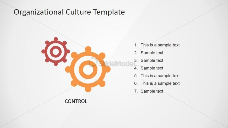 PowerPoint Control Organizational Culture Slide