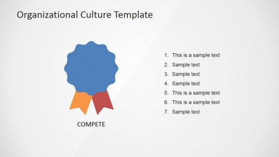 Competence Organizational Culture Icon Slide for PowerPoint