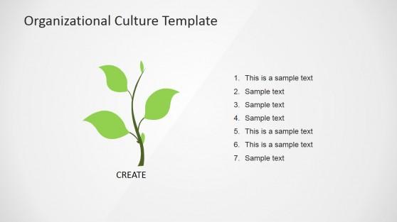 Hierarchy Organizational Culture PowerPoint Diagram