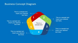 5 Step Cycle Business Concept Slide Design