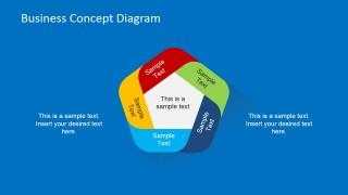 Simple 5 Step Circular Business Concept Slide Design