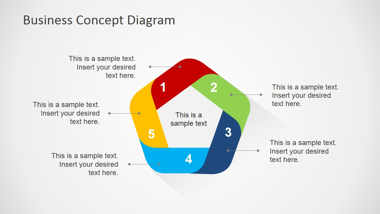 Flat Business Concept Diagram For Powerpoint