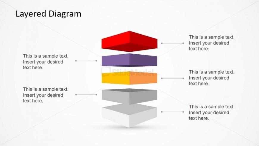5 Step Layered Diagram Slide Design