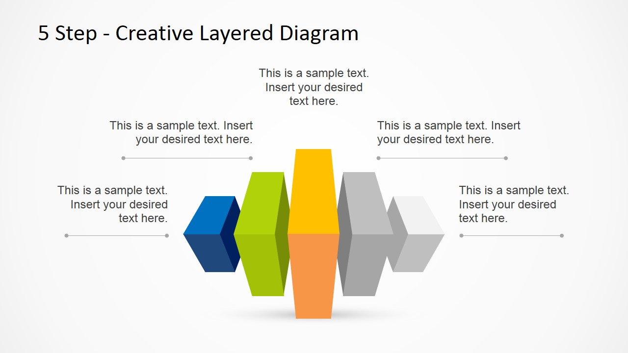 5 Step Creative Layered Diagram PowerPoint Template ...