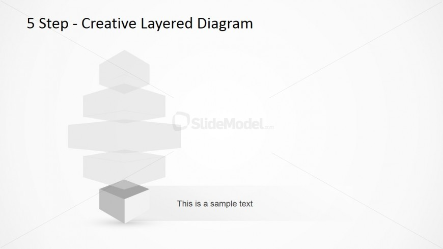 Vertical Layered Diagram Design for PowerPoint 5
