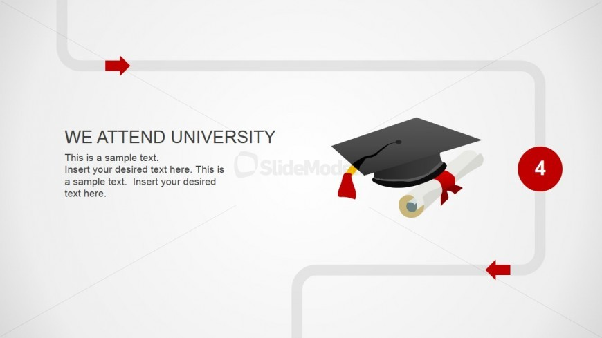 Template Design on University Years and Money