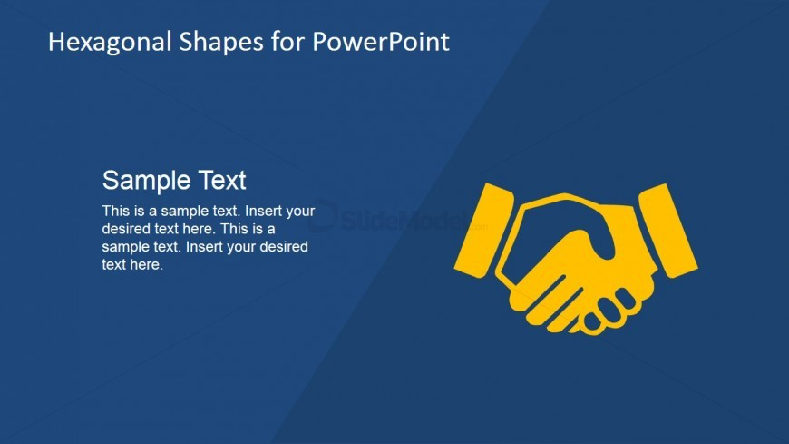 Hand Shaking Vector for PowerPoint