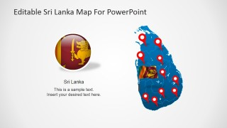 PowerPoint Template for Cities in Sri Lanka