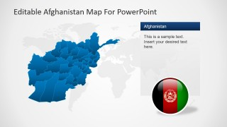 PowerPoint Slide With Map and Description Textbox