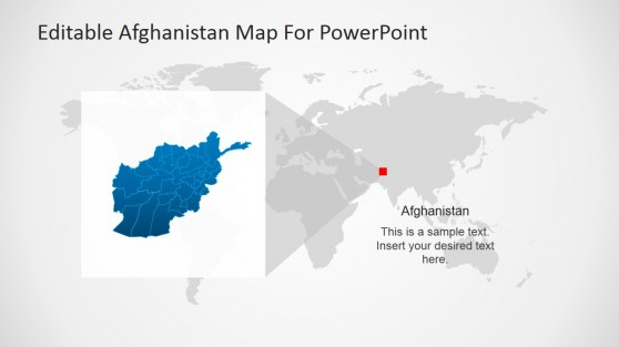 Afghanistan Located within  Worldmap and Magnified