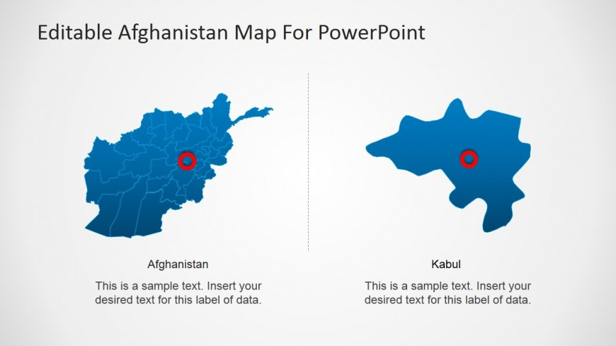 PowerPoint Afghanistan Map with Kabul State