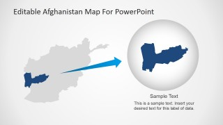 PowerPoint Afghanistan Stencil with State Description.