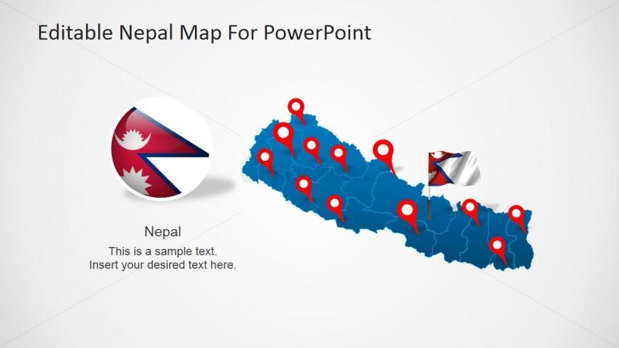Nepalese Map PowerPoint Design