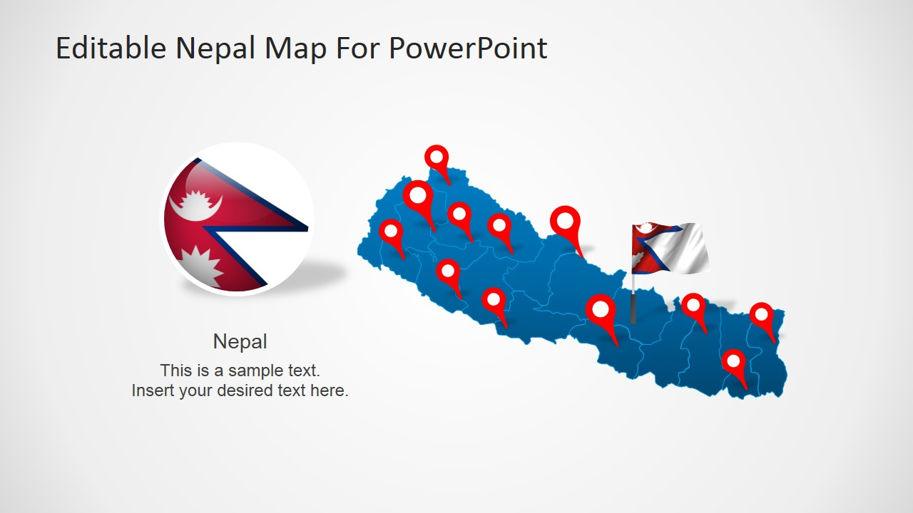 Nepalese Map PowerPoint Design