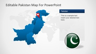 PowerPoint Map for Pakistan
